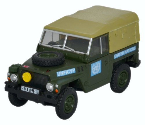 OXFORD DIECAST 76LRL001 Land Rover 1/2 Ton Lightweight United Nations