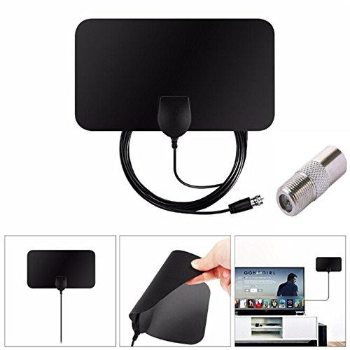 (LIGONG TV Antenna Digital Indoor HDTV Antenna 50-Mile Range Supports1080p TVFox VHF UHF DVB Accessories)