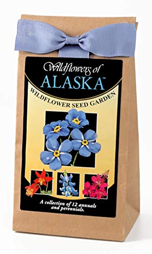 Alaska Wildflower Seed Mix - A Beautiful Collection of Twelve Annuals and Perennials - Enjoy The Natural Beauty of Alaska Flowers in Your Own Home Garden - Includes The Forget Me Not and Fireweed