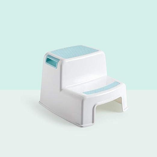MASODHDFX Baño para niños Taburete de pie Taburete de Lavado para bebés Paso de baño para niños Escalera Ascendente Antideslizante Taburete de Escalera Silla,A: Amazon.es: Hogar