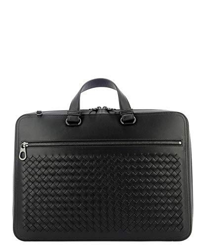 Bottega Veneta Men's 536282V46511000 Black Leather Briefcase Bottega Veneta Black Bag