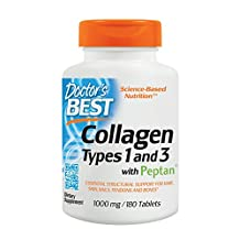 Doctor's Best Best Collagen Types 1 and 3, 1000 mg. Tablets, 180-Count