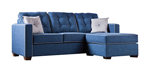 HOMES: Inside + Out ioHOMES Tianna Modern Sectional, Blue