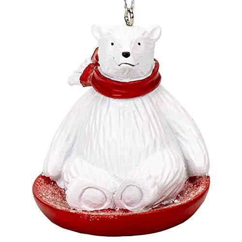 Sledding Bears (Midwest Gloves Polar Bear Sledding Ornament)