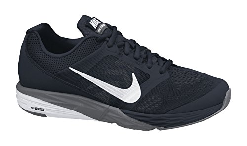 Nike Tri Fusion Run, Zapatillas de Running para Hombre Negro / Blanco / Gris (Black / White-Dark Grey)