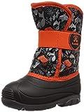 Kamik Boys' SNOWBUG4 Snow Boot, Black/Orange, 7 Medium US Toddler