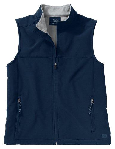 Charles River Apparel Men's Soft Shell Vest Navy/Vapor Grey XL