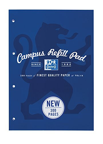 Oxford Campus A4 300 Page Refill Pad, Navy