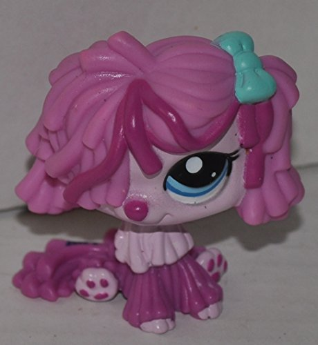 Sheepdog #2487 (Pink, Blue Eyes) - Littlest Pet Shop (Retired) Collector Toy - LPS Collectible Replacement Single Figure - Loose (OOP Out of Package & Print)
