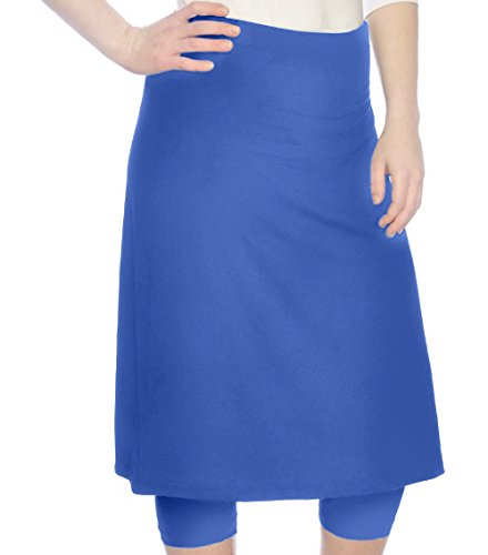 Kosher Casual Women's Modest Knee Length Sports Skirt with Leggings Large Galaxy Blue by Kosher Casual