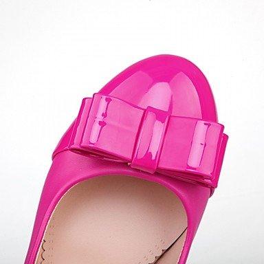Talones de las mujeres Primavera Verano Otoño Invierno Comfort novedad de la PU de cuero oficina y carrera banquete de boda y vestido de noche tacón grueso informal Rose Pink