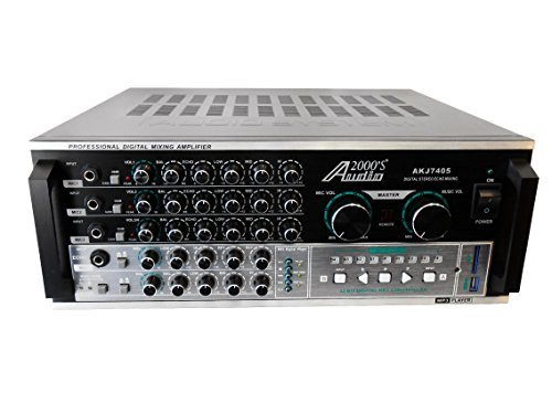 Audio2000'S AKJ7405 Professional Karaoke Mixing Amplifier with Digital Echo &Key Control, 600 W by Audio 2000S
