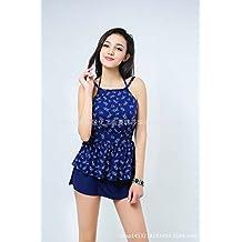 European girls swimwear girls aged 13-18 split three-piece swimsuits,Purplish blue,38