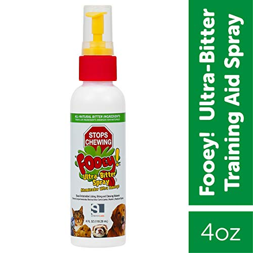 Ultra-Bitter Training Aid Spray – Chewing, Biting, Licking Deterrent for Dogs, Cats, Horses, Rabbits, Ferrets, Birds – Safe for Pet's Skin – Can Also Protect Garden from Deer and Pests (4 oz.)