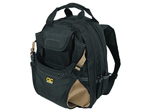 CLC Custom Leathertcraft 1134 Carpenter's Tool Backpack, 44 Pockets, Padded Back Support
