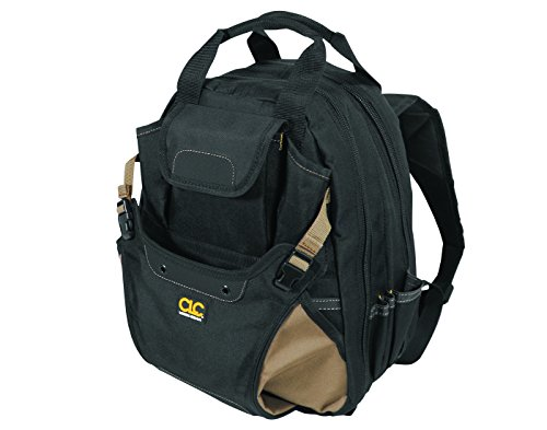 CLC Custom Leathertcraft 1134 Carpenter's Tool Backpack, 44 Pockets, Padded Back Support