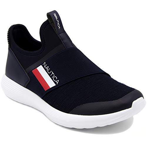 Nautica Men's Casual Fashion Sneakers-Walking Shoes-Lightweight Joggers-Steeper-Navy-13