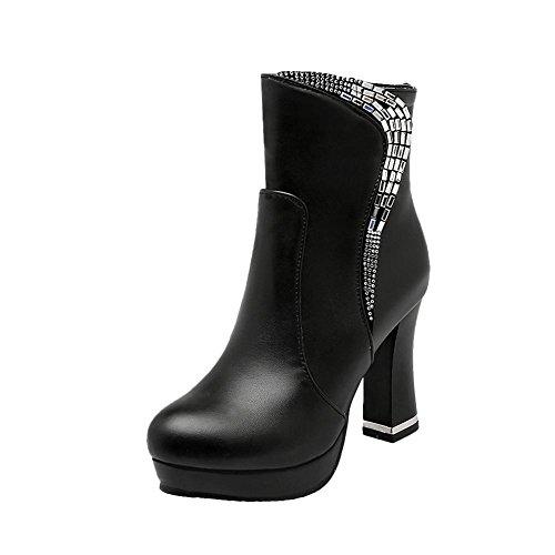 Womens Mee heel rodilla PU hasta Botines Glitters Sexy Shoes High la Cuero Suede 45Fr5q6x