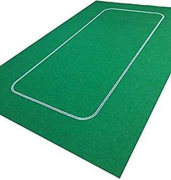 Tapete de póquer verde y baraja de cartas de póquer: Amazon ...