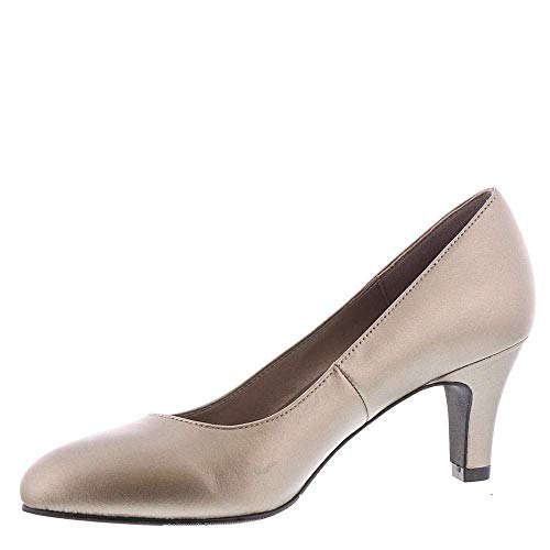 ARRAY Womens Rose Leather Pointed Toe Classic Pumps, Pewter-Metallic, Size 5.0 ()