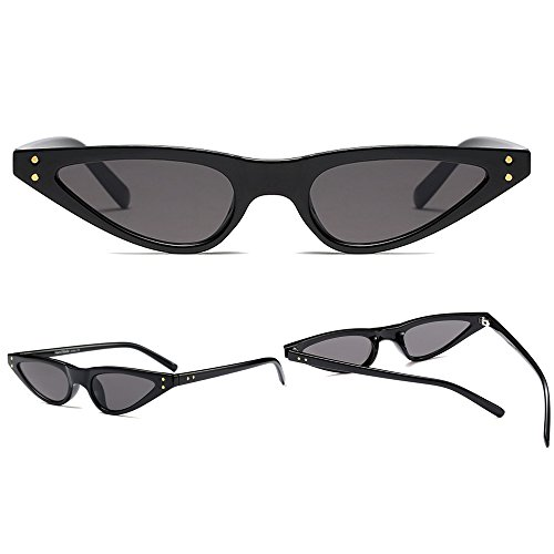 Sol gafas BOZEVON de Mujer Retro Triángulo Gafas Moda Oscuro Clásico Gris fwxF6PqUx