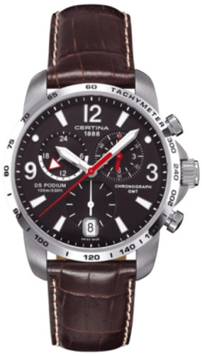 Certina - Men's Watch - Ds Podium Big Size Chrono Gmt - Ref. C0016391605700