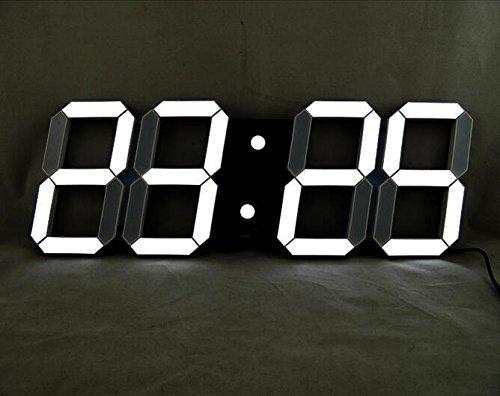 VANGOOD LED 壁掛け デジタル時計 3D 立体 wall ウォール clock リモコン付き USB電源 アダプタ付き (ブラック) B01LZ8NH2Lブラック