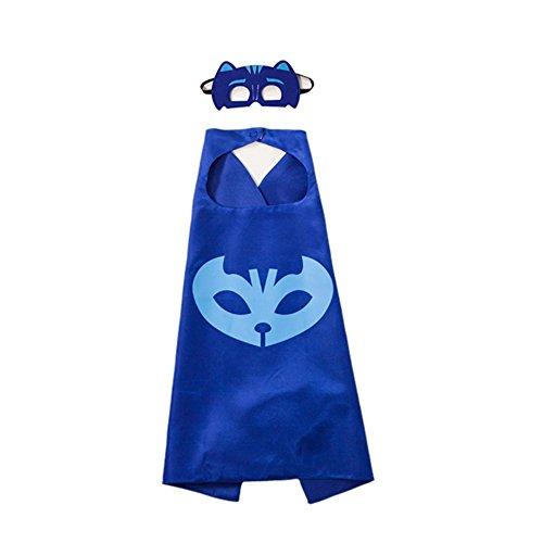 gerba-PJ-Masks-Costumes-Catboy-Owlette-Gekko-Masks-Capes-Bracelets-Neaclace-For-Kids