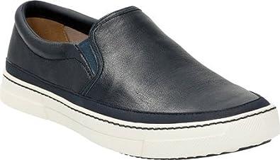 Clarks Men's Ballof Step Slip On,Navy Leather,US ...