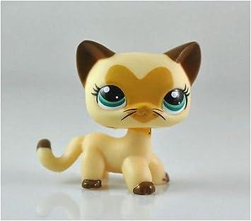 Gran Regalos tienda Littlest Pet Shop LPS mascotas gato Animal de pelo corto niño Niña figura Cute Toy Loose LPS: Amazon.es: Juguetes y juegos
