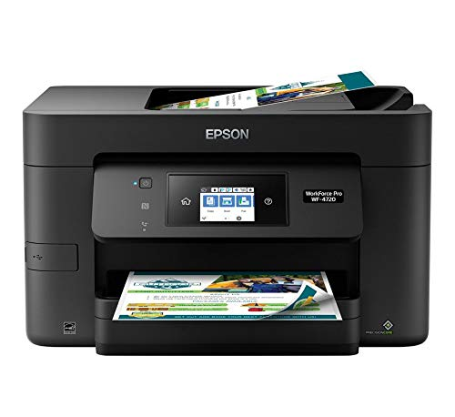 Epson Workforce Pro WF-4720 Wireless All-in-One Color Inkjet Printer, Copier, Scanner with Wi-Fi Direct, Amazon Dash Replenishment Enabled
