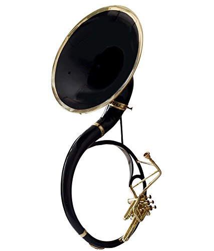 Moonflag SOUSAPHONE Bb PITCH black COLORED KING SIZE TUBA 22'' WITH bag by NASIR ALI (Image #5)