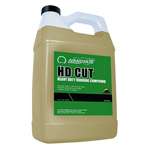 Nanoskin (NA-HDC128) HD Cut Heavy Duty Rubbing Compound - 1 Gallon (Best Rubbing Compound For Black Cars)