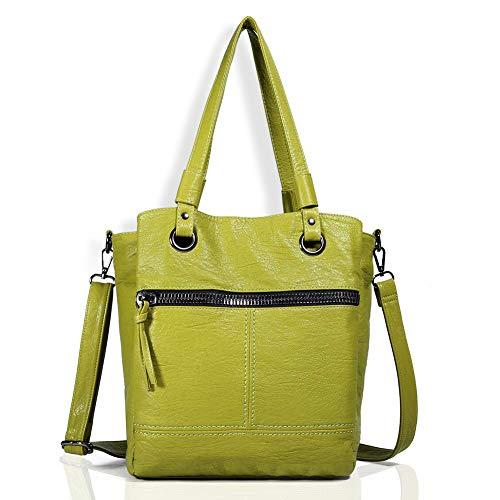 Angel Barcelo Classic Women Leather Handbag Designer Large Hobo Purses Shoulder Bags LightGreen