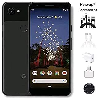 "Newest Google Pixel 3a XL 5.9"" 64GB Memory Cell Phone Unlocked Android Smartphone, AT&T/T-Mobile/Verizon W/Valued 69.99 Mobile Phone 7in1 Accessories (Black)"