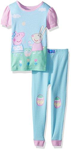 Peppa Pig - Juego de 2 Piezas de algodón para niña, Turquoise, 2 Años