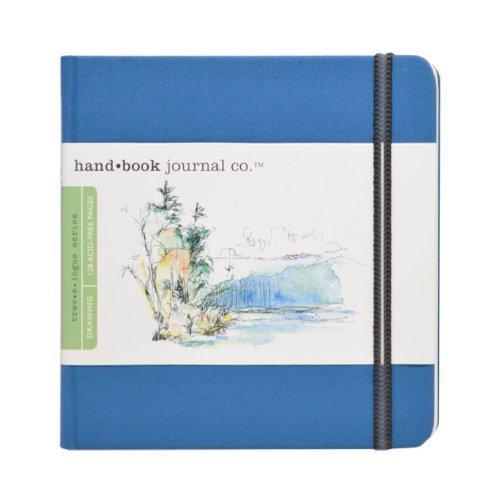 Travelogue Drawing Book, Square 5-1/2 x 5-1/2, Ultramarine Blue Artist Journal