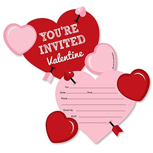 Conversation Hearts - Shaped Fill-in Invitations - Valentine's