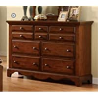 Palm Coast Solid Wood Light Walnut Finish Bedroom Dresser