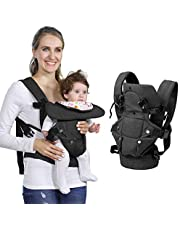 Baby Soft Carrier, 4-in-1 Ergonomic Convertible Carrier with Adjustable Straps and Breathable Mesh