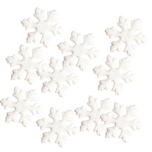 MagiDeal 10 Pieces 15cm Snowflake Hanging Styrofoam Foam Ornaments Xmas Tree Party -