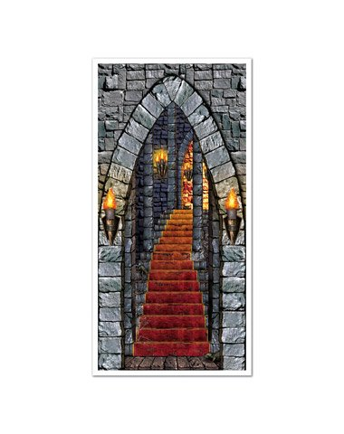 The Beistle Company Castle Entrance Door Cover Multicoloured