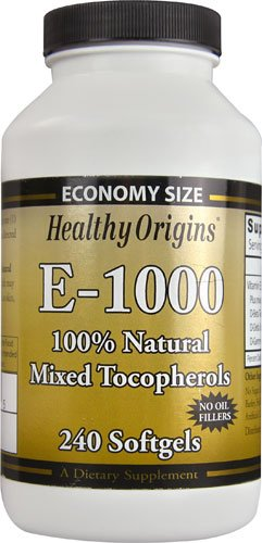 Healthy Origins E-1000 -- 1000 IU - 240 Softgels - 3PC by Healthy Origins