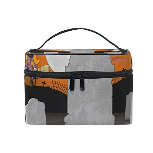 ALIREA Halloween Charaters Cosmetic Bag Travel Makeup Train Cases Storage (Halloween Charaters)