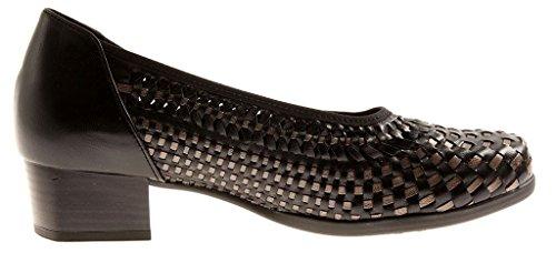 Decolltè Solidus Schwarz 55045 K Larghezza Scarpe bronce Pelle Comfort Donna Mira Di 5qUfqr