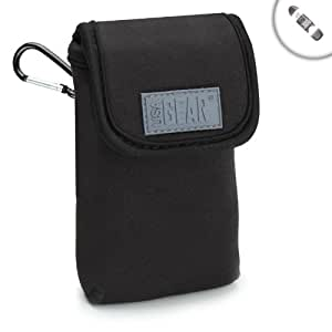 FlexARMOR Compact Digital Camera Case Sleeve for Panasonic Lumix DMC-LF1 , Canon PowerShot SX170 IS , Nikon COOLPIX A , Sony Cyber-shot DSC-RX100M2 and More Point and Shoot Cameras - With SD Memory Card Reader!