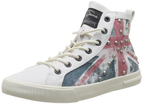 Pepe Jeans London BARR-296 A PLS30009 815 Damen Sneaker Weiß (milk)