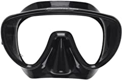 Scuba Pro's Mini Frameless Mask with its New Shaped Single Window Lens Design for even a Wider, Superior Field of Vision than the Original Frameless Scuba Pro Mask. The Mini Frameless Mask is for people with Smaller Faces, making it great for...