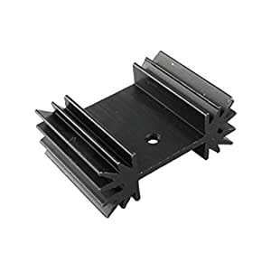 Transferencia de calor 25 x 34 x 12 mm de aluminio de refrigeración refrigerador Fin