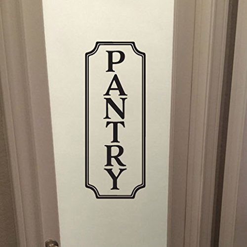 pantry vinyl wall decal by wild eyes signs pantry decal glass door decal